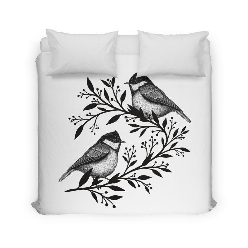 Little Birds Home Duvet by Thistle Moon Artist Shop