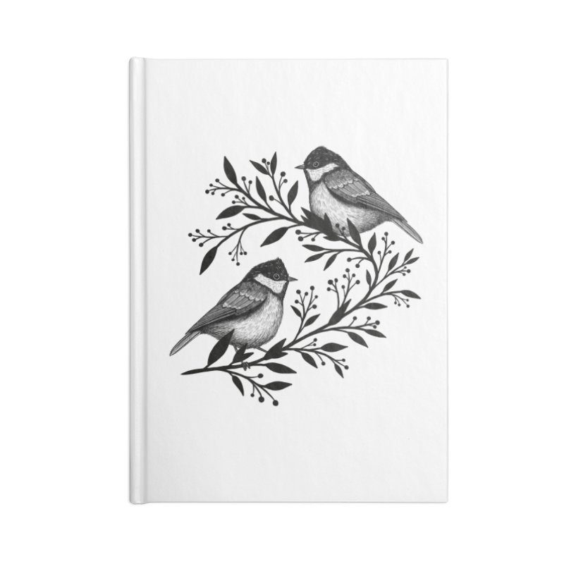 Little Birds Accessories Blank Journal Notebook by Thistle Moon Artist Shop