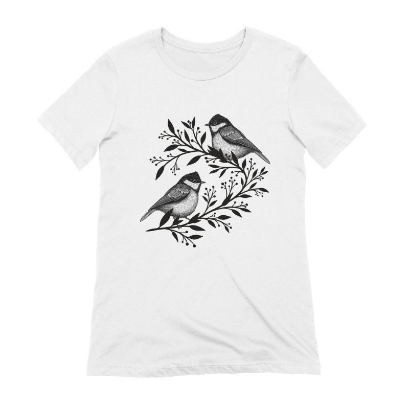 Little Birds Women's Extra Soft T-Shirt by Thistle Moon Artist Shop