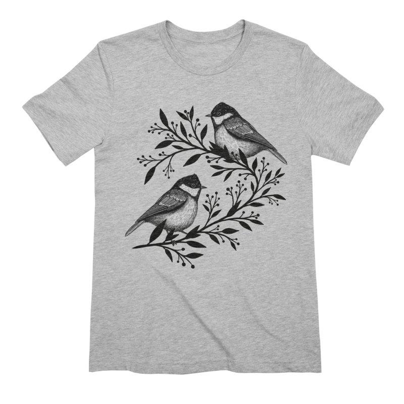 Little Birds Men's Extra Soft T-Shirt by Thistle Moon Artist Shop