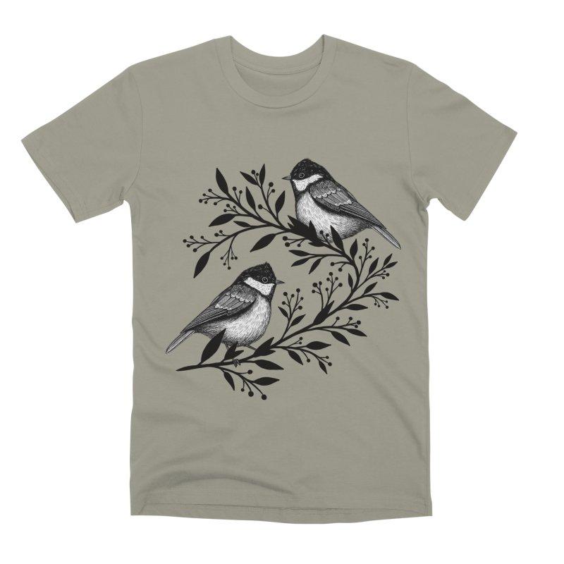 Little Birds Men's Premium T-Shirt by Thistle Moon Artist Shop