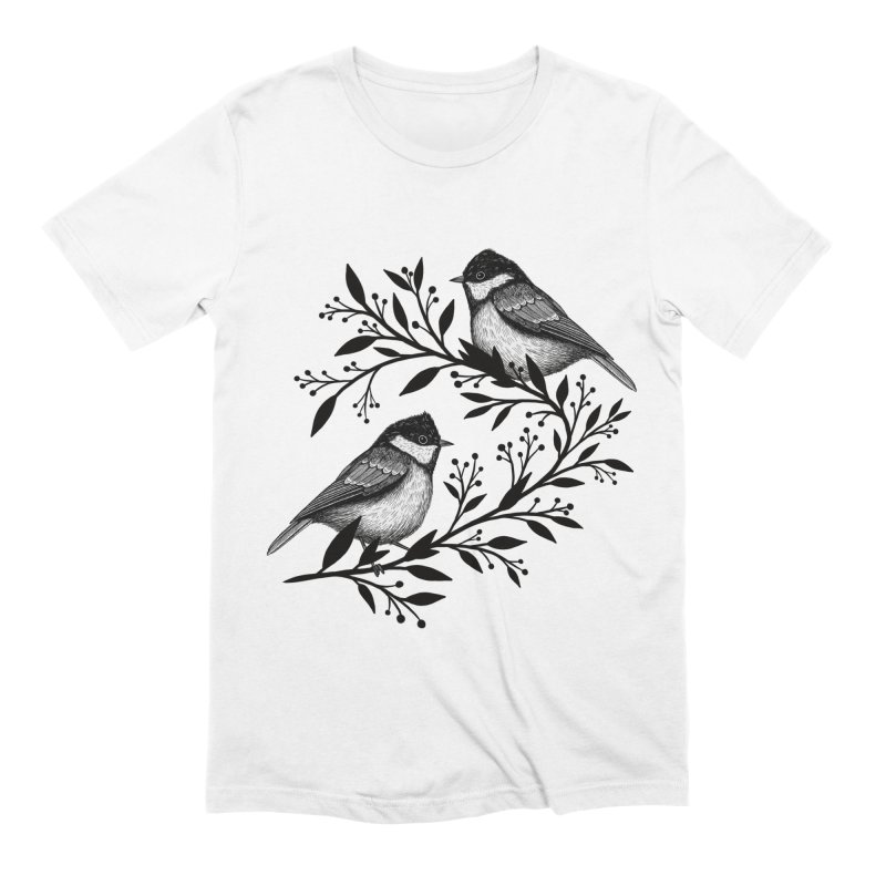 Little Birds Men's Extra Soft T-Shirt by Thistle Moon Artist Shop