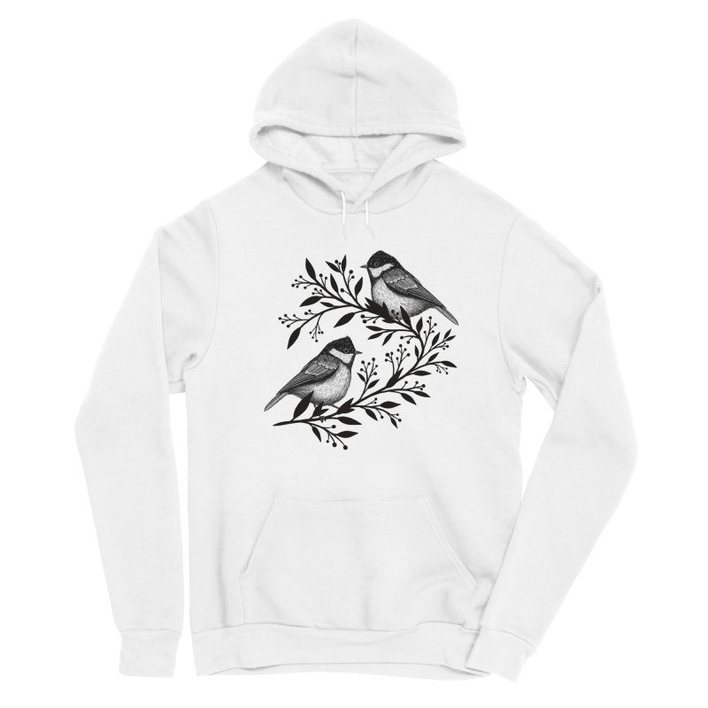 Little Birds Women's Sponge Fleece Pullover Hoody by Thistle Moon Artist Shop