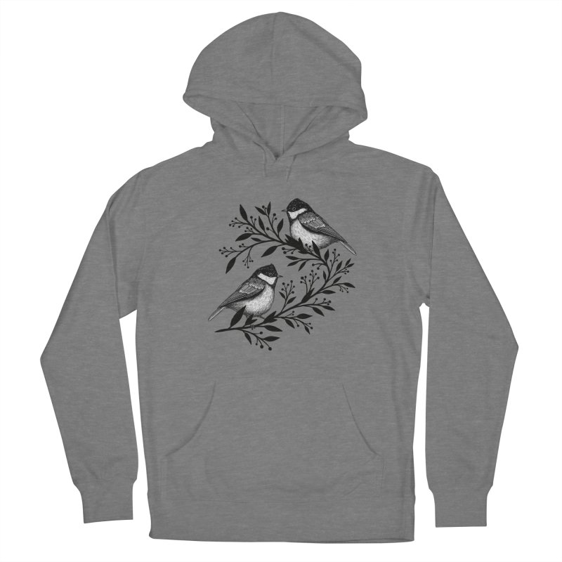 Little Birds Women's French Terry Pullover Hoody by Thistle Moon Artist Shop
