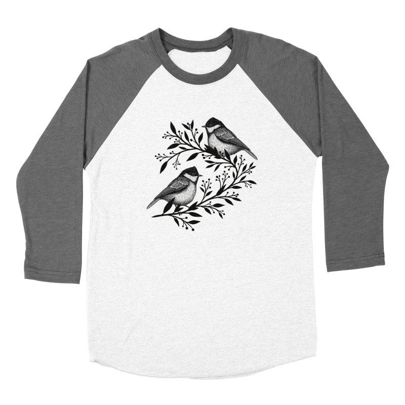 Little Birds Men's Baseball Triblend Longsleeve T-Shirt by Thistle Moon Artist Shop