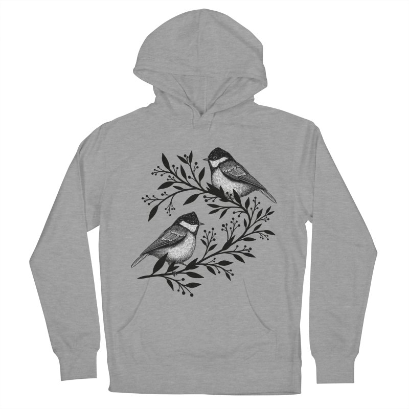Little Birds Men's French Terry Pullover Hoody by Thistle Moon Artist Shop