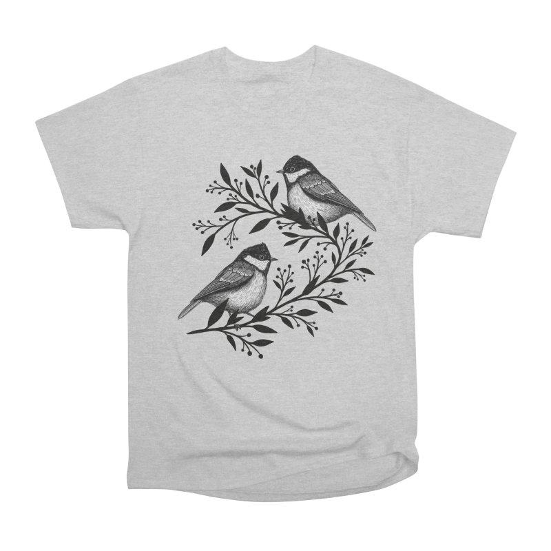 Little Birds Men's Heavyweight T-Shirt by Thistle Moon Artist Shop