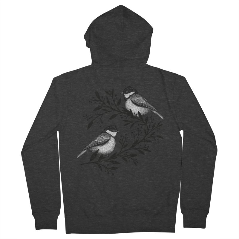 Little Birds Women's French Terry Zip-Up Hoody by Thistle Moon Artist Shop