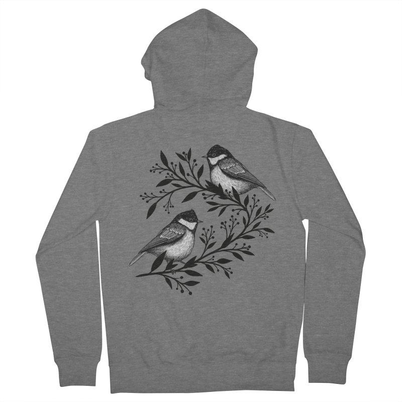 Little Birds Women's Zip-Up Hoody by Thistle Moon Artist Shop