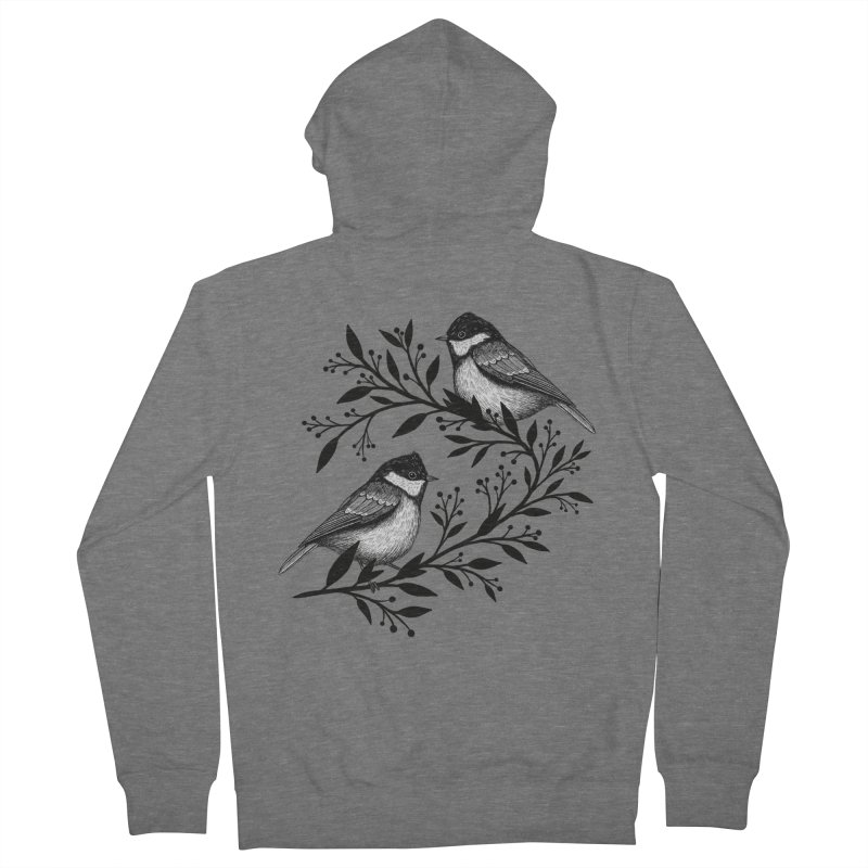 Little Birds Men's French Terry Zip-Up Hoody by Thistle Moon Artist Shop
