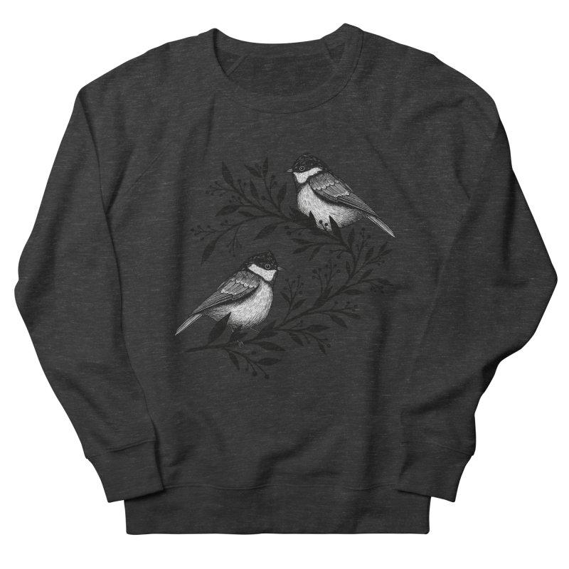 Little Birds Men's French Terry Sweatshirt by Thistle Moon Artist Shop