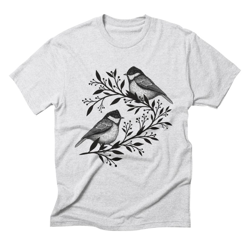 Little Birds Men's Triblend T-Shirt by Thistle Moon Artist Shop