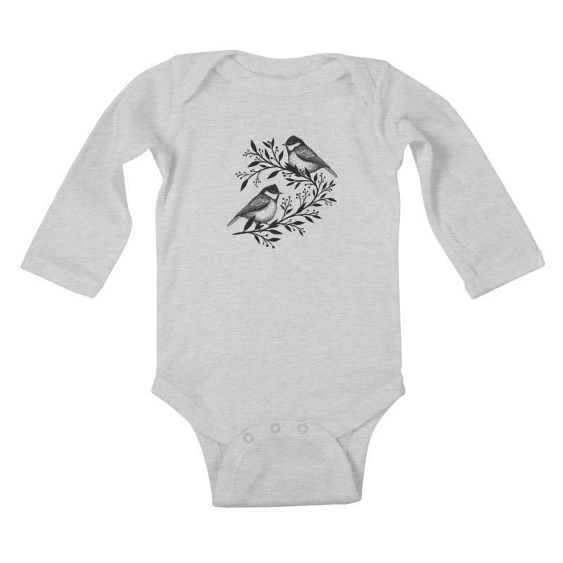 Little Birds Kids Baby Longsleeve Bodysuit by Thistle Moon Artist Shop