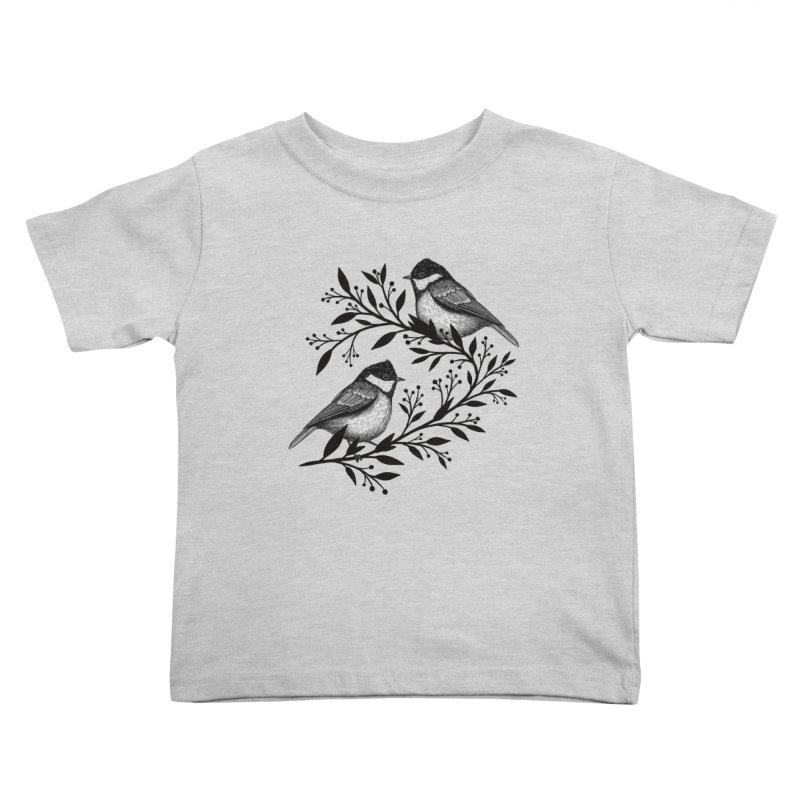 Little Birds Kids Toddler T-Shirt by Thistle Moon Artist Shop