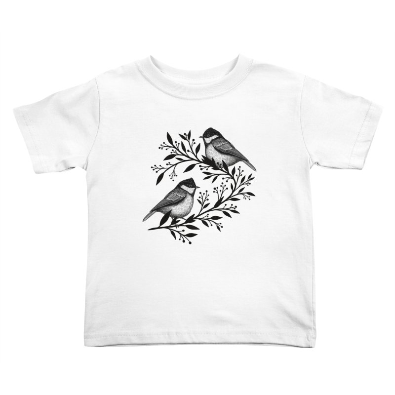 Little Birds Kids Toddler T-Shirt by Thistle Moon Artist Shop