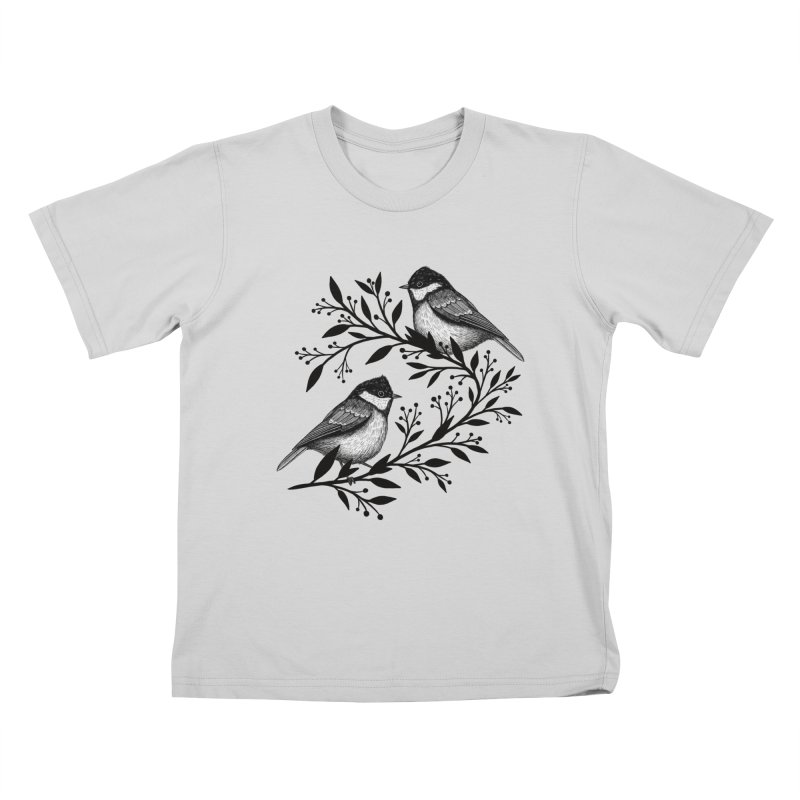 Little Birds Kids T-Shirt by Thistle Moon Artist Shop