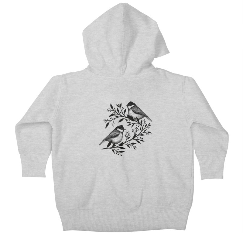 Little Birds Kids Baby Zip-Up Hoody by Thistle Moon Artist Shop