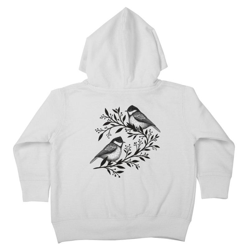 Little Birds Kids Toddler Zip-Up Hoody by Thistle Moon Artist Shop