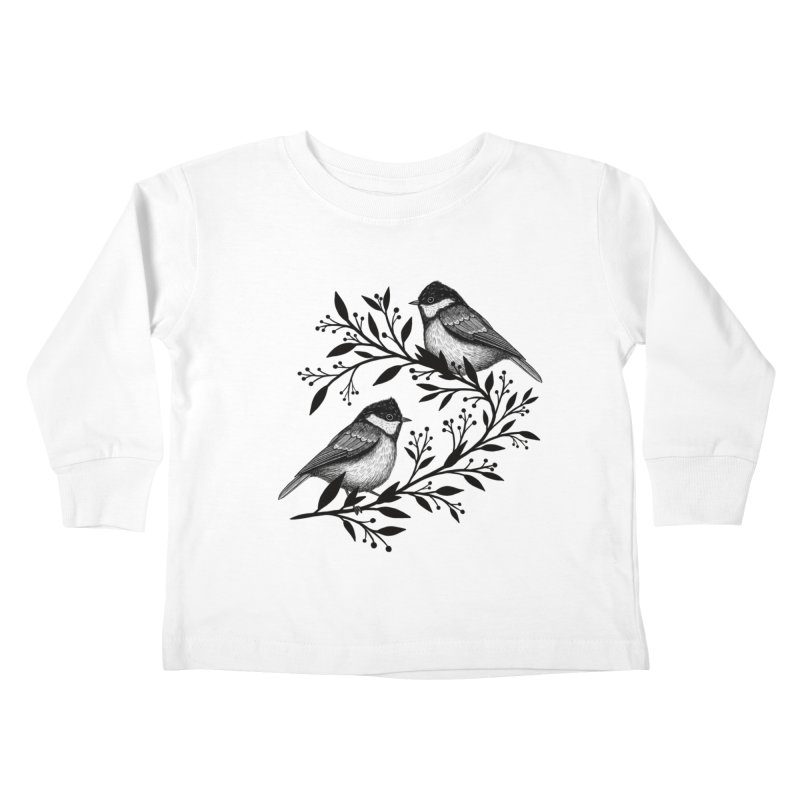 Little Birds Kids Toddler Longsleeve T-Shirt by Thistle Moon Artist Shop