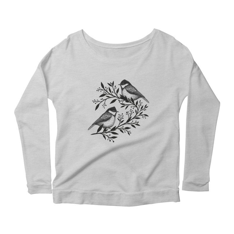 Little Birds Women's Scoop Neck Longsleeve T-Shirt by Thistle Moon Artist Shop