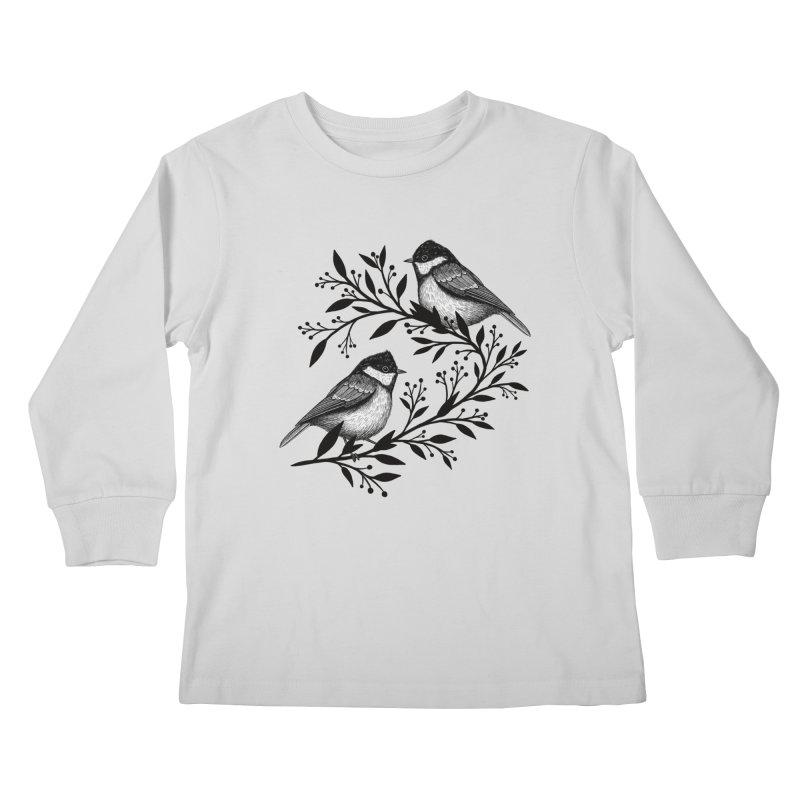 Little Birds Kids Longsleeve T-Shirt by Thistle Moon Artist Shop