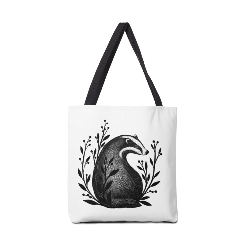 Botanical Badger Accessories Tote Bag Bag by Thistle Moon Artist Shop