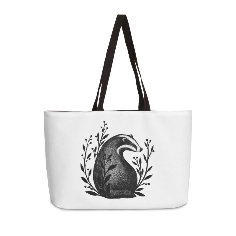 Botanical Badger Accessories Weekender Bag Bag by Thistle Moon Artist Shop