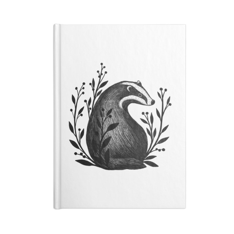 Botanical Badger Accessories Lined Journal Notebook by Thistle Moon Artist Shop