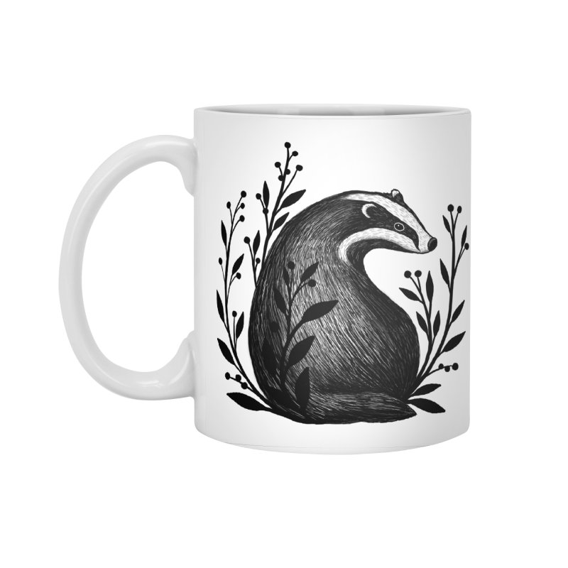Botanical Badger Accessories Standard Mug by Thistle Moon Artist Shop