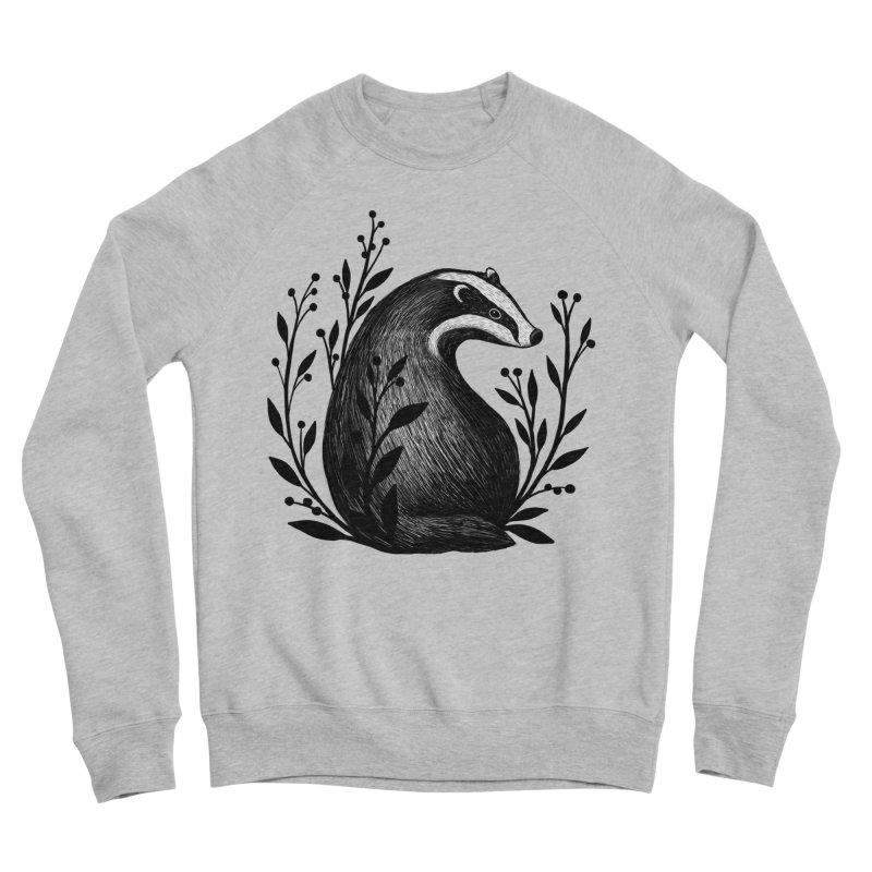 Botanical Badger Women's Sponge Fleece Sweatshirt by Thistle Moon Artist Shop