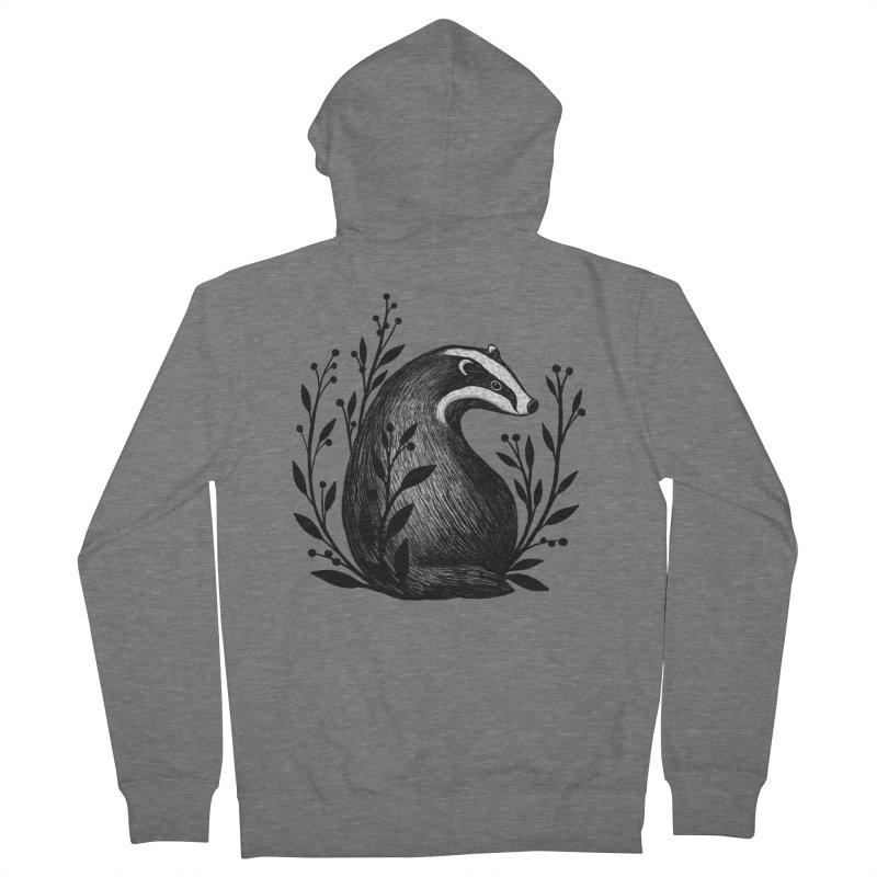 Botanical Badger Women's Zip-Up Hoody by Thistle Moon Artist Shop