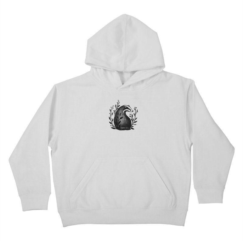 Botanical Badger Kids Pullover Hoody by Thistle Moon Artist Shop