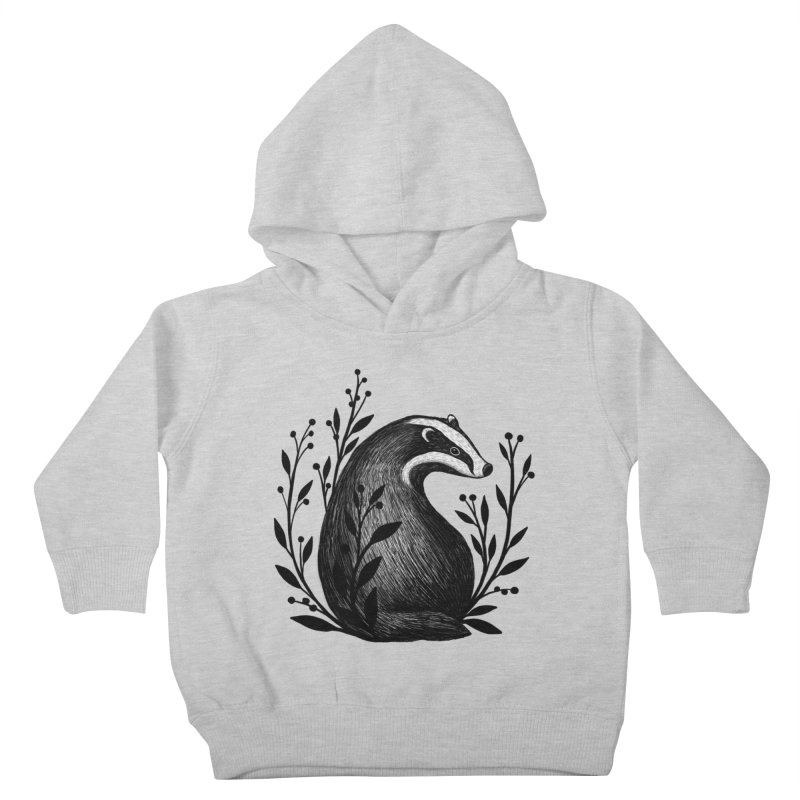 Botanical Badger Kids Toddler Pullover Hoody by Thistle Moon Artist Shop