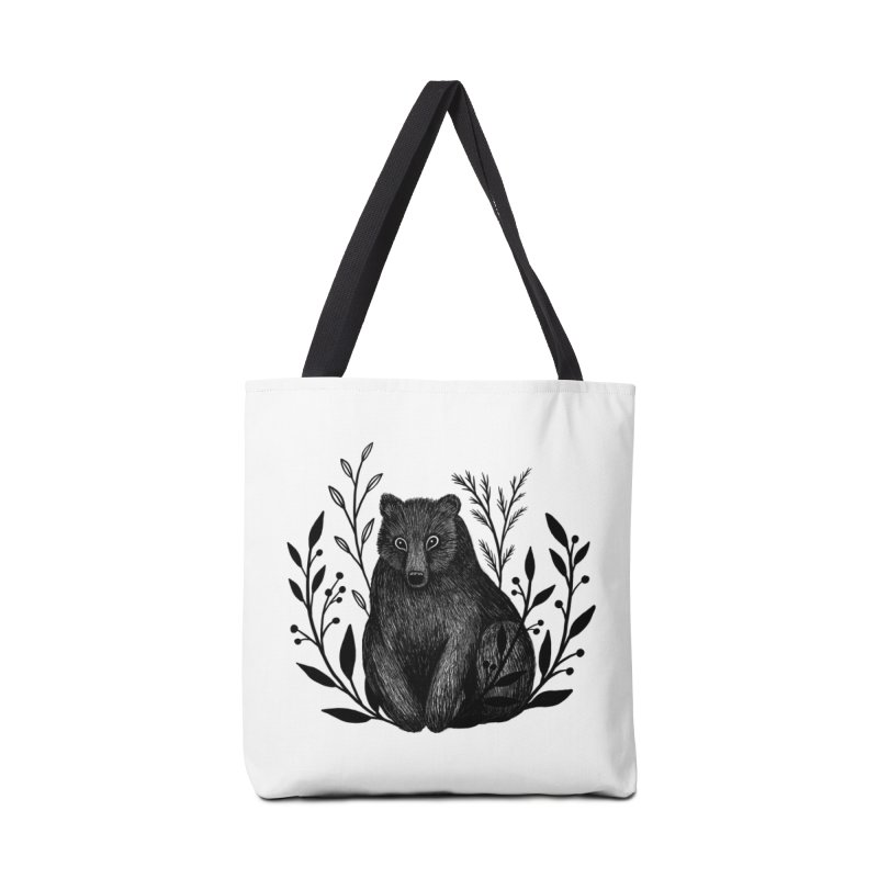 Botanical Bear Accessories Tote Bag Bag by Thistle Moon Artist Shop