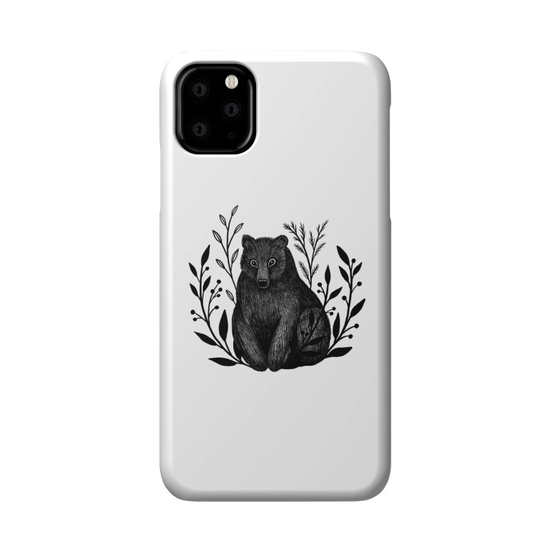 Botanical Bear Accessories Phone Case by Thistle Moon Artist Shop