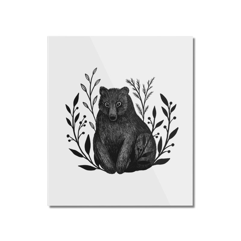 Botanical Bear Home Mounted Acrylic Print by Thistle Moon Artist Shop