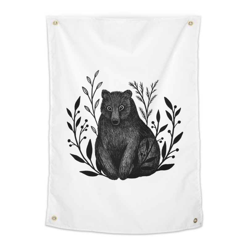 Botanical Bear Home Tapestry by Thistle Moon Artist Shop