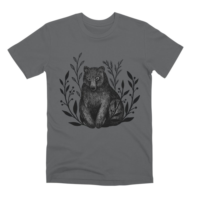 Botanical Bear Men's Premium T-Shirt by Thistle Moon Artist Shop