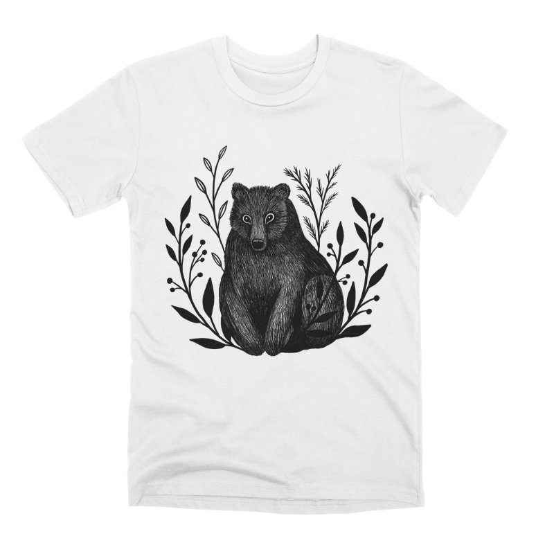 Botanical Bear Men's Premium T-Shirt by Thistle Moon Artist Shop