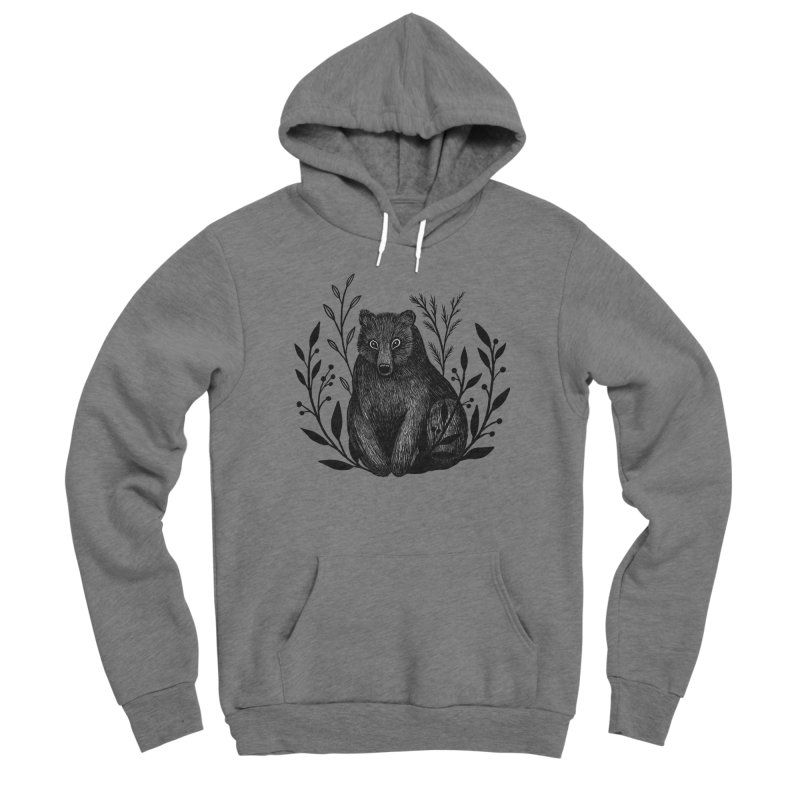 Botanical Bear Women's Sponge Fleece Pullover Hoody by Thistle Moon Artist Shop