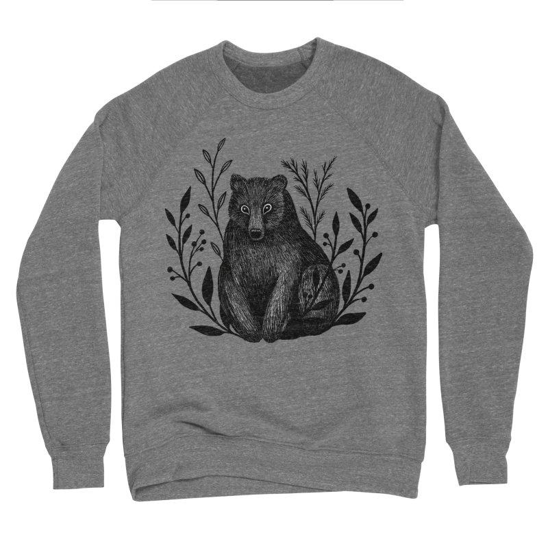 Botanical Bear Men's Sponge Fleece Sweatshirt by Thistle Moon Artist Shop