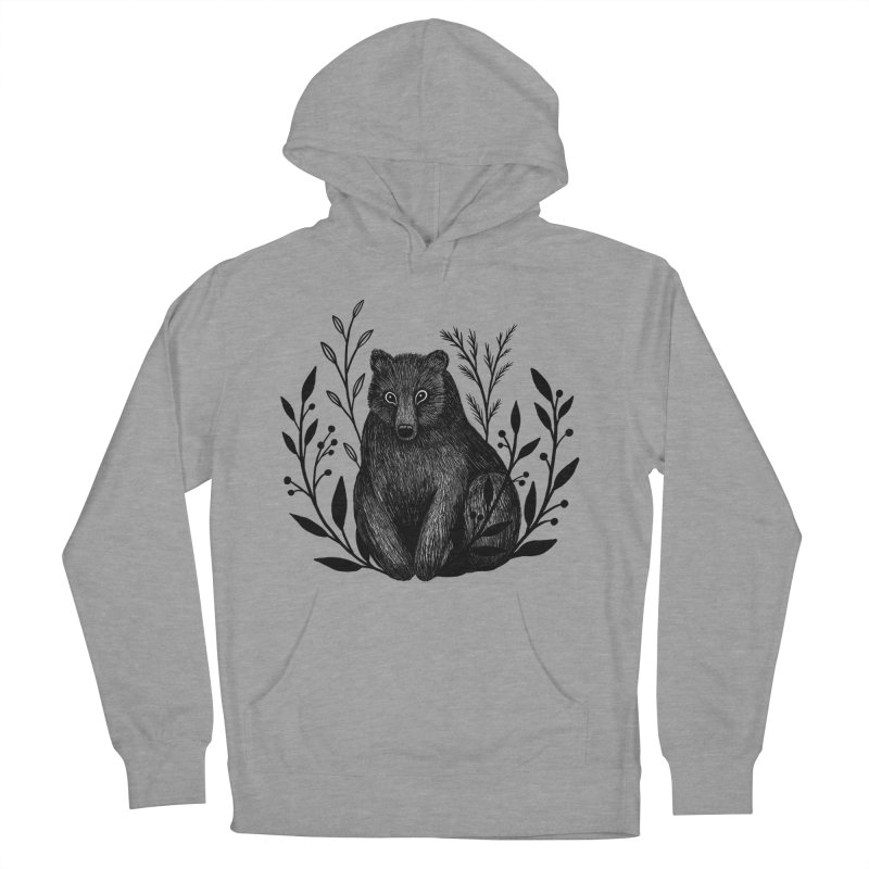 Botanical Bear Women's French Terry Pullover Hoody by Thistle Moon Artist Shop