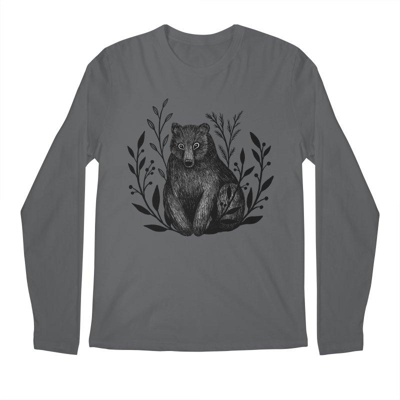 Botanical Bear Men's Regular Longsleeve T-Shirt by Thistle Moon Artist Shop