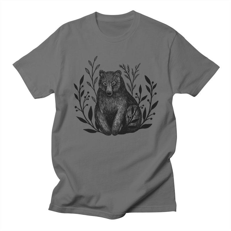 Botanical Bear Men's T-Shirt by Thistle Moon Artist Shop