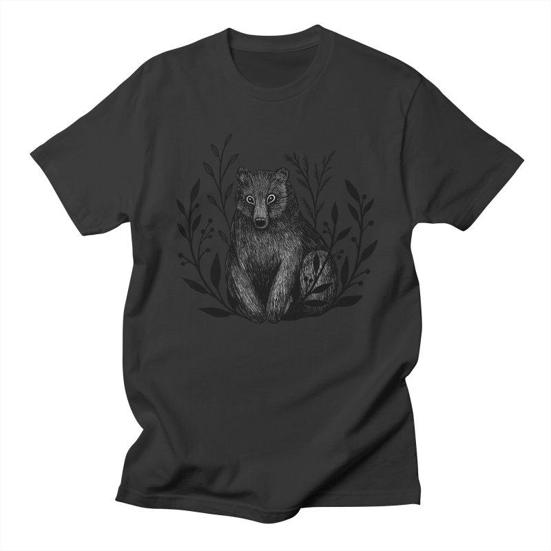 Botanical Bear Men's Regular T-Shirt by Thistle Moon Artist Shop