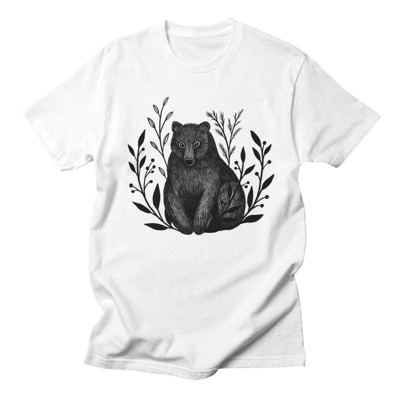 Botanical Bear Women's Regular Unisex T-Shirt by Thistle Moon Artist Shop