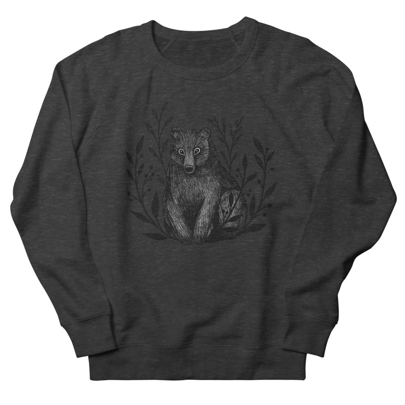 Botanical Bear Men's French Terry Sweatshirt by Thistle Moon Artist Shop