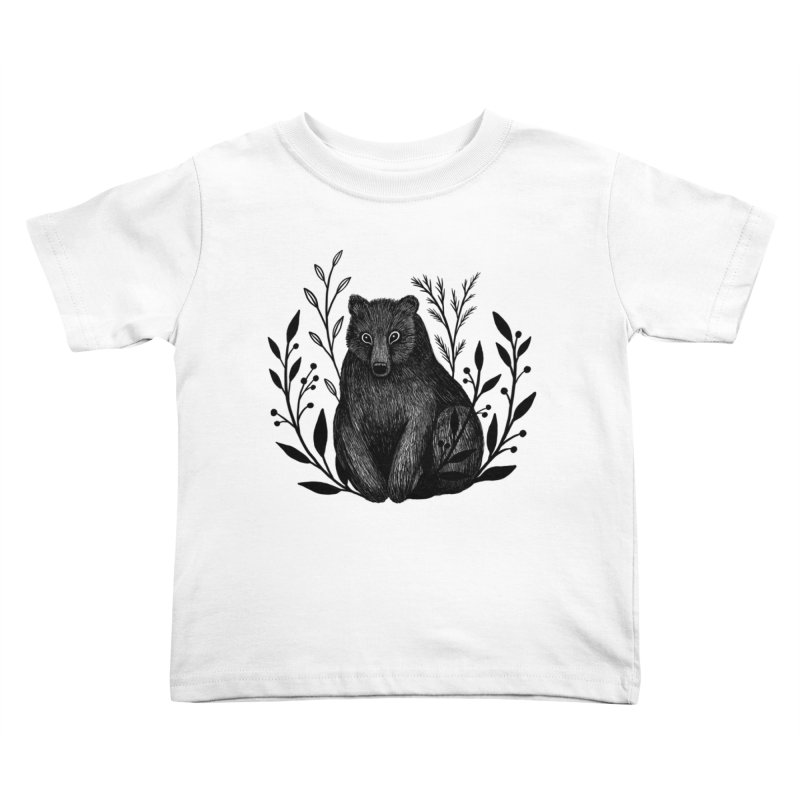 Botanical Bear Kids Toddler T-Shirt by Thistle Moon Artist Shop