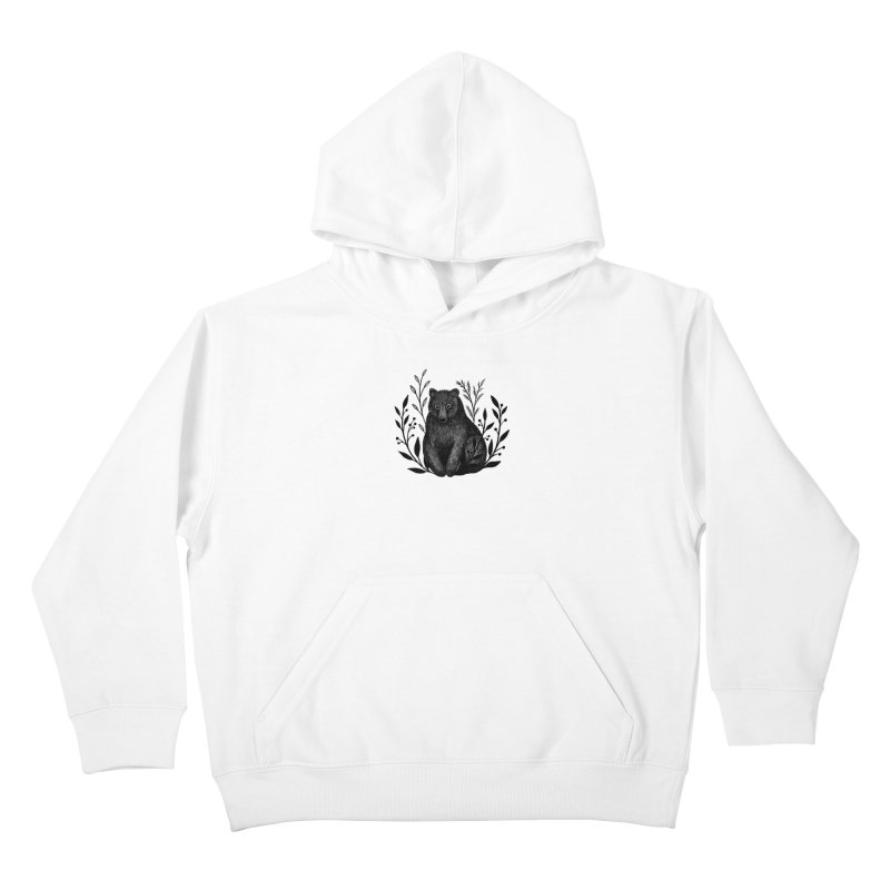 Botanical Bear Kids Pullover Hoody by Thistle Moon Artist Shop