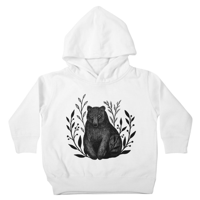 Botanical Bear Kids Toddler Pullover Hoody by Thistle Moon Artist Shop